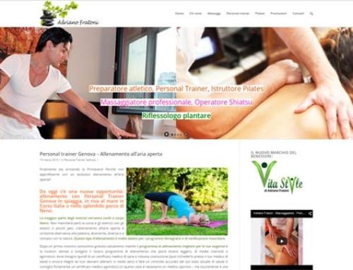 Realizzazione siti Internet Genova: Il Blog personale del preparatore atletico e massaggiatore Adriano Fratoni