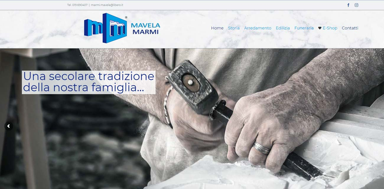 Sito WEB Mavela Marmi-Finale Ligure