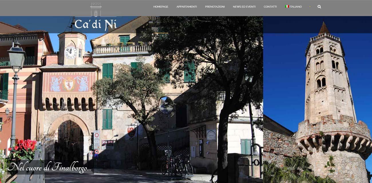 Sito WEB residence Ca di Nì Finalborgo