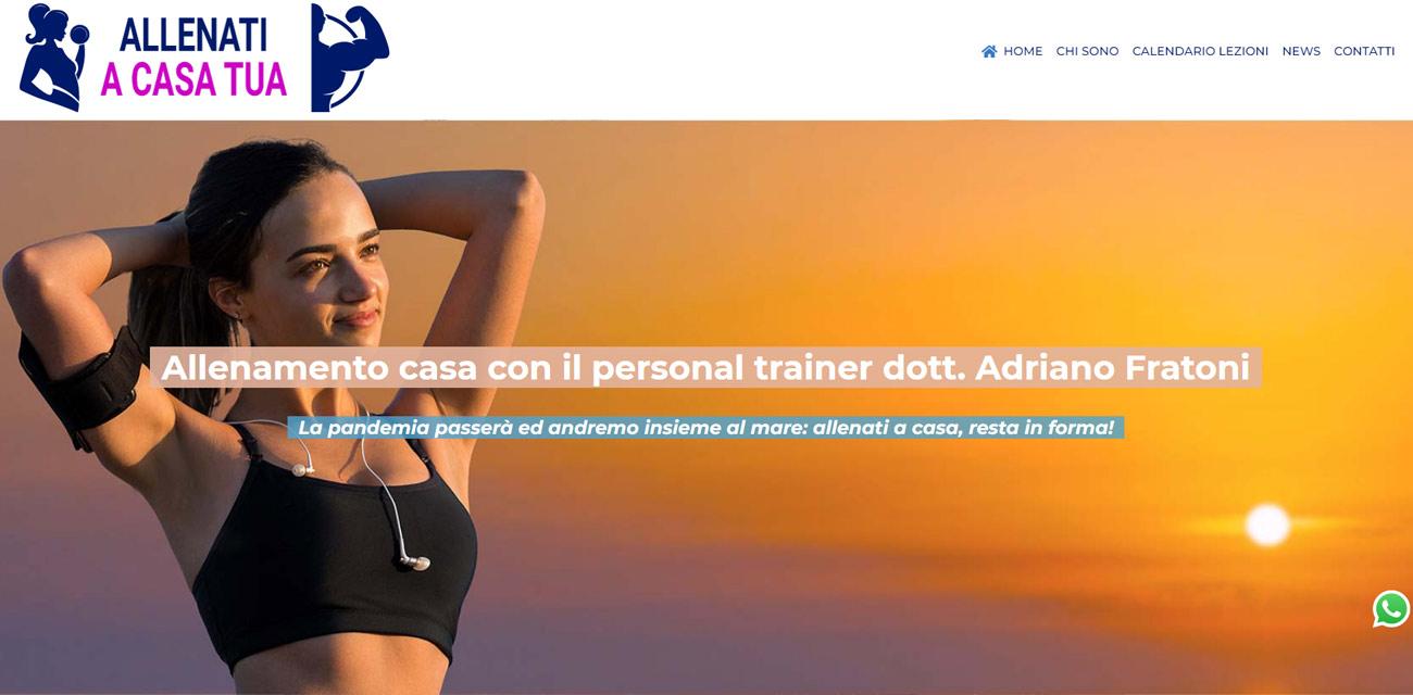 Sito web Personal Trainer Online Genova